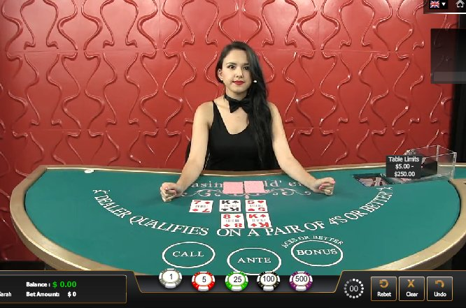 Play Live Casino Holdem Online